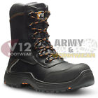 V12 Vtech E1300 DEFIANT Work Boots Leather Composite Toe Cap Midsole Side Zip