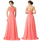 Sexy Women Formal Long Chiffon Halter Bridesmaid Cocktail Prom Evening Dresses
