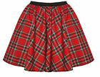 "Red Tartan Robert Burns Night Skater Skirts 15"" Roller Derby Girl"