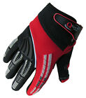 CHILDRENS Motocross MX GLOVES Kids  RED Honda Trials motorcross by Qtech