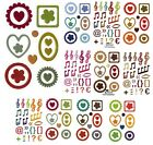 LOT EMBELLISSEMENT AUTOCOLLANT EPOXY SCRAPBOOKING SCRAP CARTE CADRE STICKERS