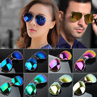 New Unisex Retro 80s Vintage Womens Mens Mirror Aviator Lens Sunglasses