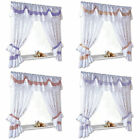 ROMANTIC LACE VOILE NET CURTAIN SET WITH TIE BACKS AND PELMET