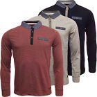 Code Long Sleeve Polo Shirt Mens Plain Top S M L XL XXL
