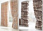 LONDON LEAF HEAVYWEIGHT LINED EYELET CURTAINS READY MADE RING TOP ALL SIZES