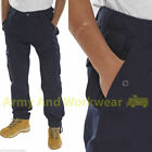 Click Combat Cargo Work Trousers Pants Mens 6 Pocket Adjustable clips Military