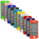Color Tempered Glass LCD Screen Protector Kit Hard Cover for iPhone 4S 4G 4