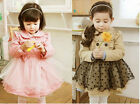 Girls Baby Toddlers Cotton Tulle  Dress Dust Coat  Clothes Costume Age 2-7Y Cute