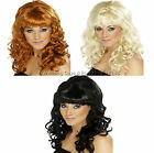 Sexy Long Glamour Curly Wavy Beehive Wig 50s 60s 70s 80s 90s Ladies Fancy Dress