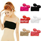 Women's Strapless Top Bandeau Padded Bra Boob Tube Removable Pads Anti-emptied