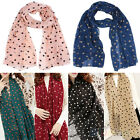 Fashion Style Womens Lady Polka Dot Printing Chiffon Long Scarf Shawl Wraps BD4U