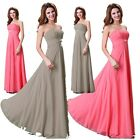 Strapless Bridesmaid Women Sexy Chiffon Cocktail Long Prom Formal Evening Dress
