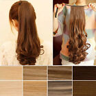 Clip In Pony Tail Hair Extension Ponytail Hairpiece Straight Curly Wavy Popular