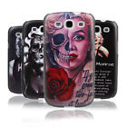 Rose Marilyn Monroe Tattoo Skull Life Quote Hard Case for Samsung Galaxy S3 S4