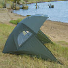 Carp/Sea Fishing Umbrella Shelter with Top Tilt Tent/Brolly/Bivvy Zipped Sides