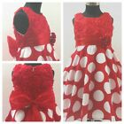 NWT R3123 Reds Christening Flower Girls Party Dresses AGE SIZE 2-3-4-5-6-7-8-10Y