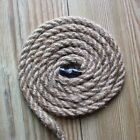 NATURAL JUTE 3-STRAND TWISTED STRONG ROPE 8mm 10mm 12mm
