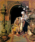 THE WEDDING DAY ORIENTAL SCENE MOROCCO ARAB PAINTING BY RUDOLF ERNST REPRO