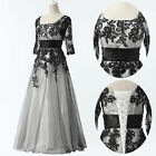 2014 Women's Vintage Lace Tulle Half Sleeve Formal Prom Party Evening Long Dress