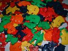BRIGHT MIXED JUNGLE/ZOO ANIMALS SEW THRU/THROUGH BUTTONS/EMBELLISHMENTS