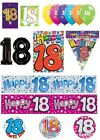 18th Birthday AGE 18 - Large Range of CAKE CANDLES & Party BANNERS(Plastic/Foil)