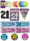 21st Birthday AGE 21 - Large Range of Party BADGES - Small/Large/Giant/Shaped