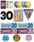 30th Birthday AGE 30 - Large Range of Party BALLOONS - Foil/Latex/Airfill/Helium
