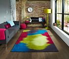 New Funky Bright Contemporary Colorful Artistic Stain Resistant Soft Area Rugs