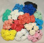 6 - 72 colourfast foam roses  vibrant colours wedding flowers buttonholes