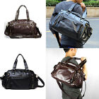 Fashion Men's PU Leather Travel Luggage Gym Duffle Satchel Shoulder Bag Handbag