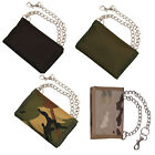 Mens Army Combat Military Zip Travel Pouch Wallet Chain Nylon Black, Green Camo