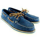 Mens Sperry Top Sider Suede Boat Shoes Flat Lace Up Deck Shoes New UK 7-12