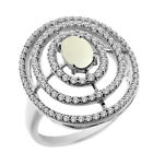 1.69 Ct Oval Cabouchon Natural White Opal 925 Sterling Silver Ring