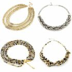 good Style Women Snake Chain Multi Color Mixed Beads Necklace Elastic
