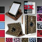 For iPad MINI 1st and 2 with Retina Rotating PU Leather Case Cover + Accessories