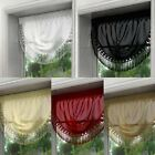MAISIE CURTAIN SWAG MACRAME LACE TRIM PELMET RED WHITE BLACK LATTE