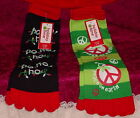 WOMEN'S  TOE SOCKS ** 3 STYLES ** SIZE 4-10 ** NEW WITH TAGS **