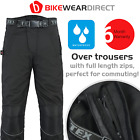 100% Waterproof Mens Black Armoured Motorcycle Motorbike Rain Trousers / Pants