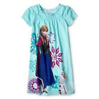 Disney Frozen Anna and Olaf Girls Spring Summer Nightgown Night Shirt