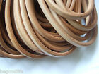 10x6mm Natural Color Genuine Licorice Leather Jewelry Cord