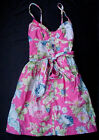 NEW NWT Authentic Abercrombie Fitch Sun Summer Dress Pink Green Women Sz M Med