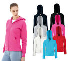 Womens Fruit of The Loom Lady-Fit Hooded Sweatshirt Jacket-6 Hoodies