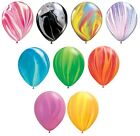 "5x Qualatex 11"" SuperAgate/Marmor Regenbogen Party Helium Ballons/Luft"