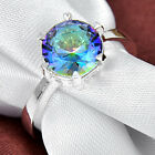 50% OFF TOP Beautiful Rainbow Fire Mystical Topaz Silver Rings 17 Ct Sz.6 7 8 9