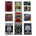 "Retro Metal Sign Tin Sheet Pub ''ROUTE 66"" Wall Garage Decor Plaque"
