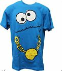 Sesame Street Cookie Monster Swag w gold chain Men's Tee Shirt Med and Large