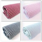 SMALL 2mm GINGHAM CHECK -  LINEN LOOK FABRIC 100% COTTON craft Canvas