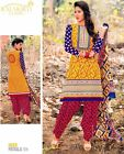 Bollywood Printed Patiala Style Salwar Kameez Suit Indian (Any Sizes)-Heer-306