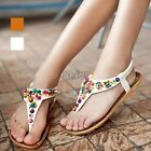 Gorgeous Ladies Womens Summer Sandals Strappy Flat Low Beach Shoes New Size top