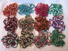"""YOUR CHOICE of 1 ASSORTED """"MULTI-COLOR BRAIDED TWIST"""" MARDI GRAS 42"""" NECKLACE"""